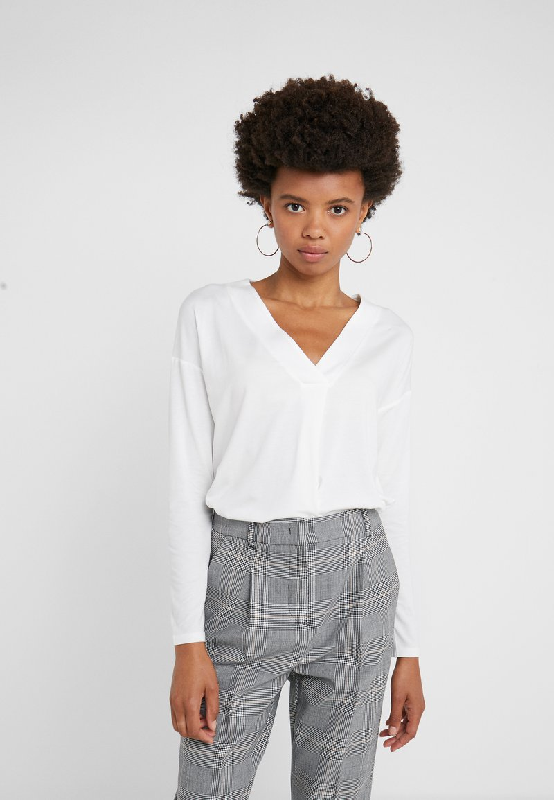 WEEKEND MaxMara - Bluzka z długim rękawem - white
