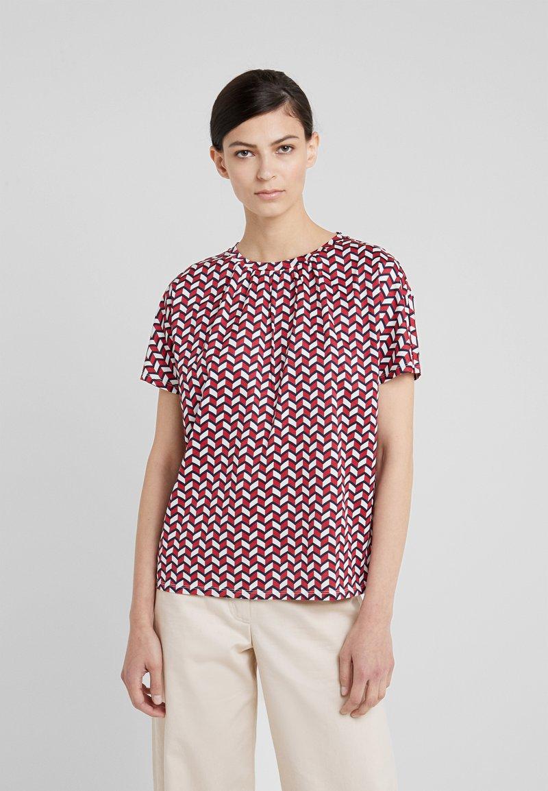 WEEKEND MaxMara - KASTEL - Print T-shirt - ziegelrot