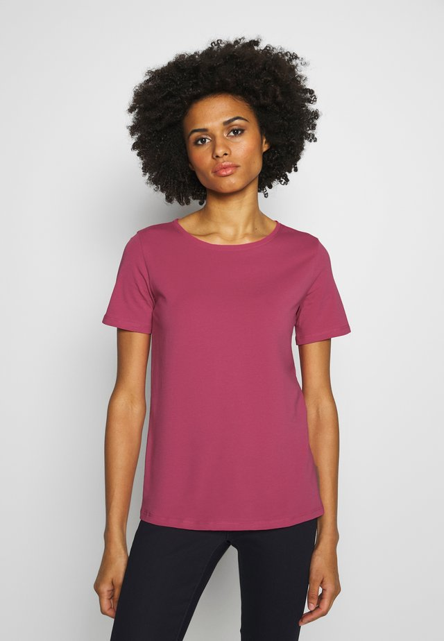 Jednoduché triko - shocking pink