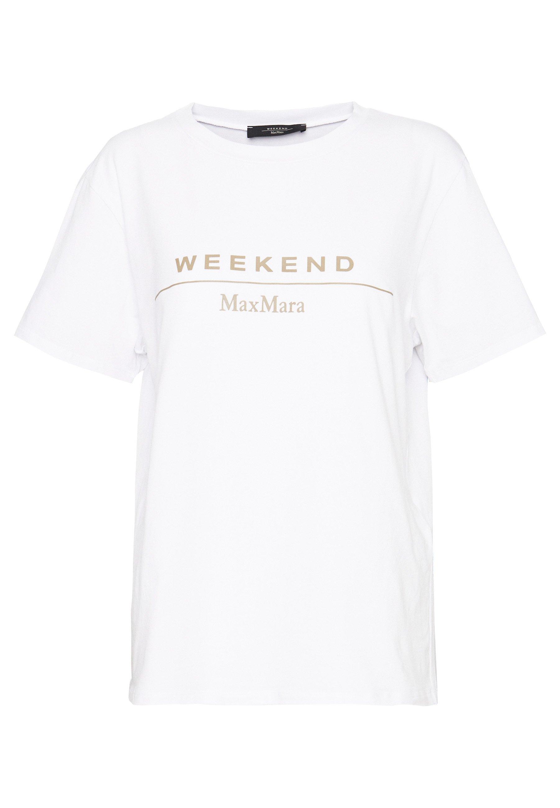 Weekend Maxmara Kabuki - Print T-shirt Weiss UK