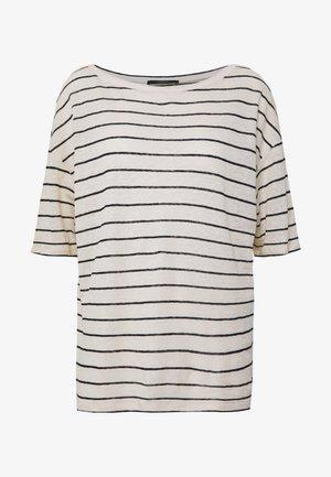 ODILE - Print T-shirt - off-white, black