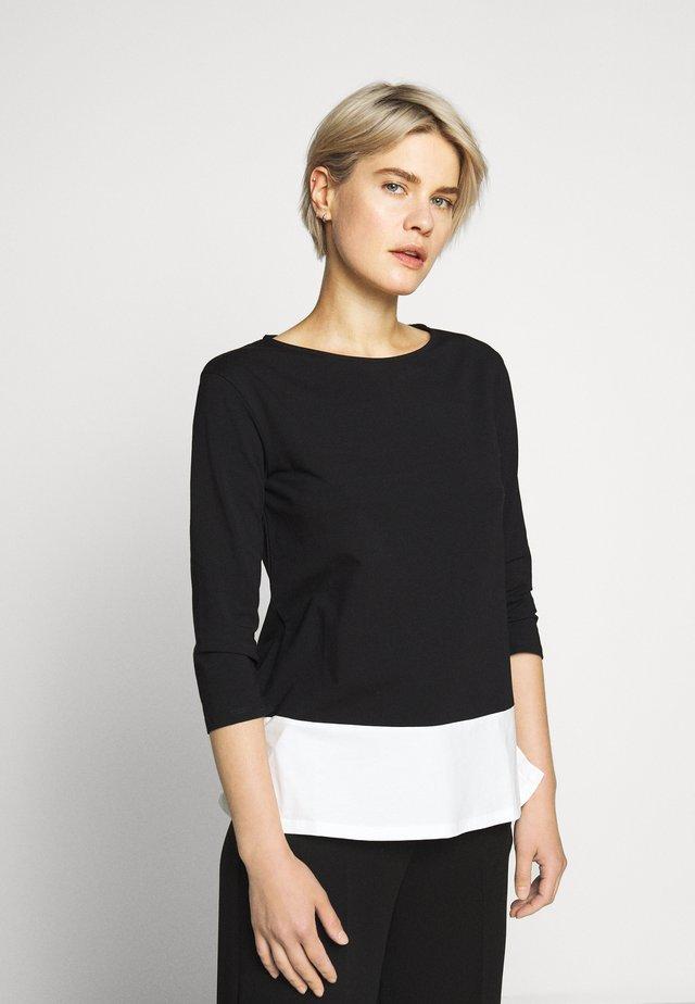MULTIA - Long sleeved top - schwarz