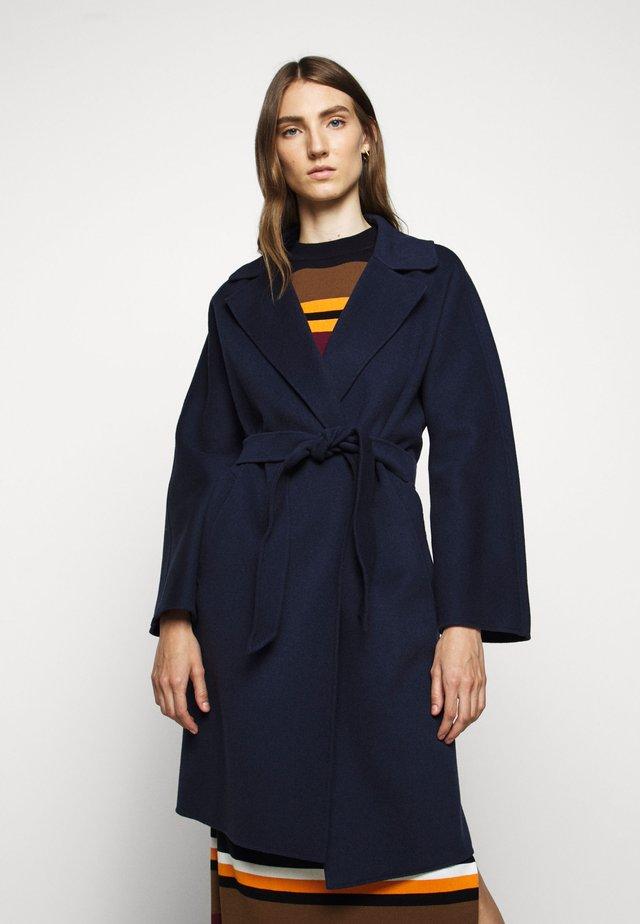 Wollmantel/klassischer Mantel - nachtblau