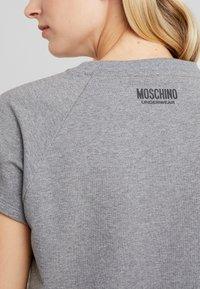 Moschino Underwear - SHORT SLEEVE - Maglia del pigiama - medium gray melange - 4