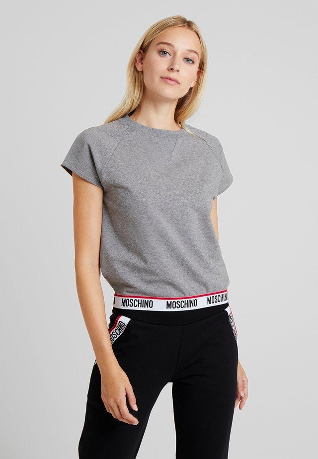 SHORT SLEEVE - Pyjama top - medium gray melange
