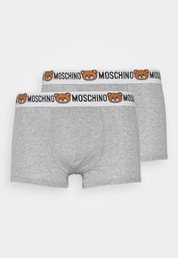 Moschino Underwear - PARIGAMBA  2 PACK - Boxerky - mottled grey - 2