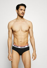 Moschino Underwear - BRIEF 3 PACK - Kalhotky - black/white/gray melange - 1