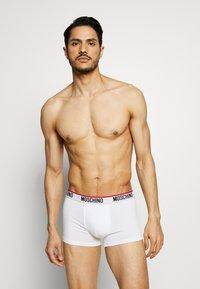 Moschino Underwear - TRUNK 3 PACK - Boxerky - black/white/gray melange - 0