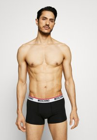 Moschino Underwear - TRUNK 3 PACK - Culotte - black/white/gray melange - 1