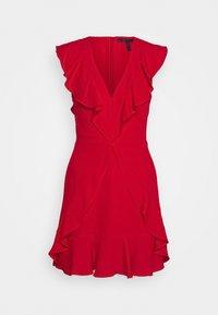 BCBGMAXAZRIA - EVE SHORT DRESS - Cocktailklänning - burnt red - 0