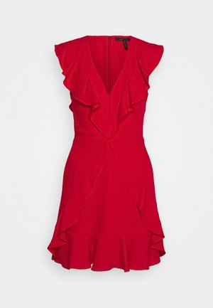 EVE SHORT DRESS - Vestito elegante - burnt red
