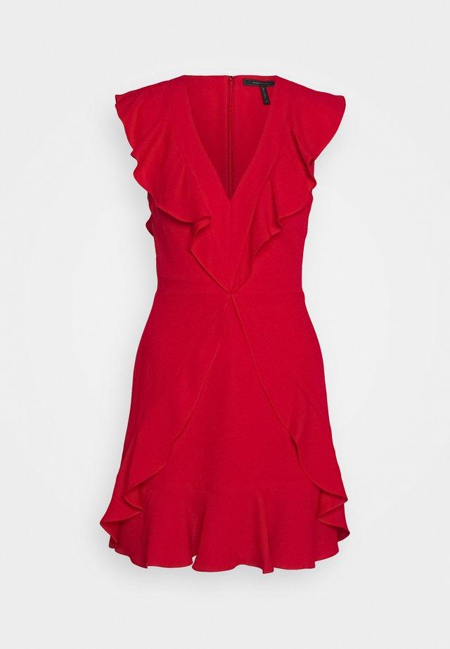 EVE SHORT DRESS - Sukienka koktajlowa - burnt red