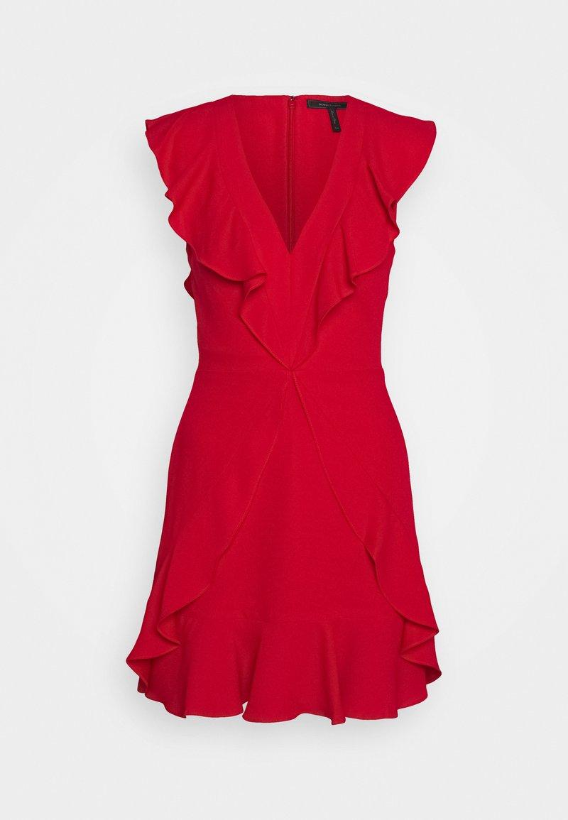 BCBGMAXAZRIA - EVE SHORT DRESS - Cocktailklänning - burnt red
