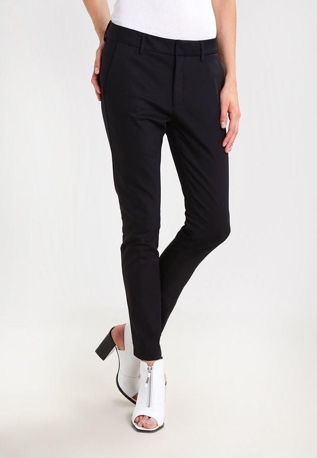 ABBEY NIGHT - Spodnie materiałowe - black