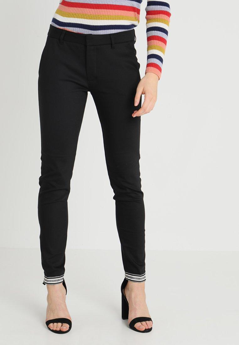 Mos Mosh - ABBEY GLAM ZIP PANT - Trousers - black