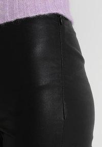 Mos Mosh - LUCILLE STRETCH - Kožené kalhoty - black - 4