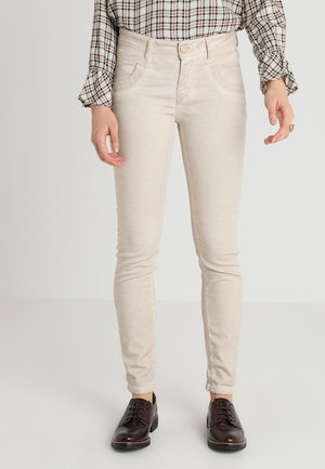 EMBROIDERY SOFT PANT - Trousers - beige