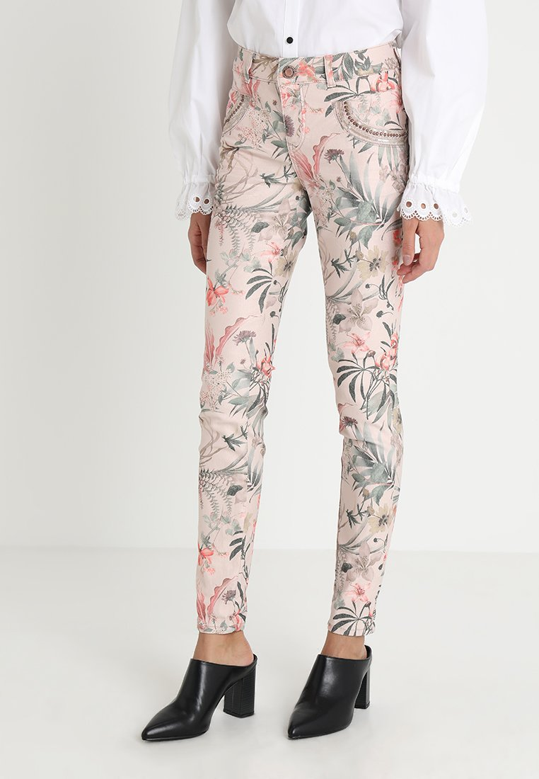 Mos Mosh - SHINE FLOWER PANT - Trousers - rose