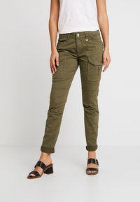 Mos Mosh - HURLEY DECO CARGO PANT - Spodnie materiałowe - army - 0