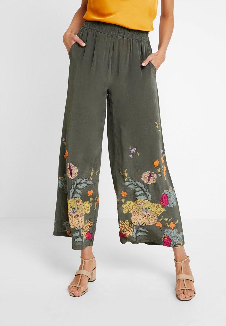 Mos Mosh - AVA PANT - Pantalon classique - grape leaf