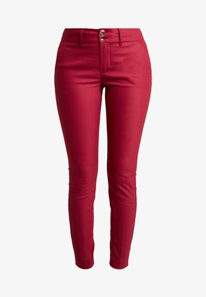 BLAKE NIGHT PANT SUSTAINABLE - Spodnie materiałowe - red