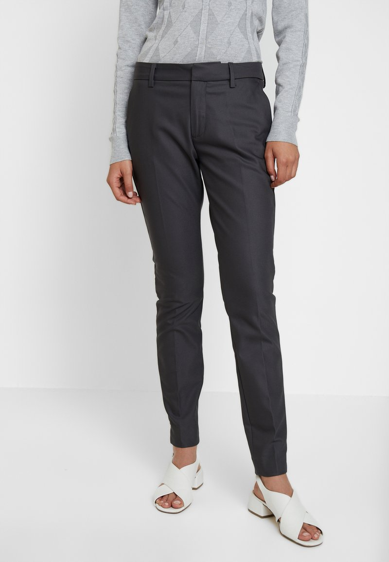 Mos Mosh - ABBEY NIGHT PANT SUSTAINABLE - Tygbyxor - antracite