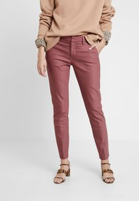 Mos Mosh - ABBEY NIGHT PANT SUSTAINABLE - Bukse - wild plum - 0
