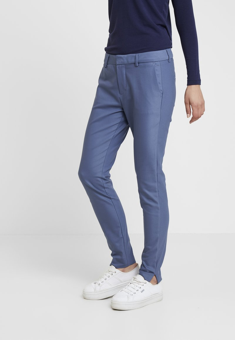 Mos Mosh - ABBEY NIGHT PANT SUSTAINABLE - Broek - indigo blue
