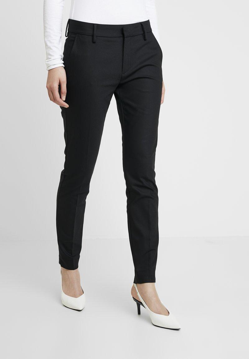 Mos Mosh - ABBEY NIGHT PANT SUSTAINABLE - Kalhoty - black