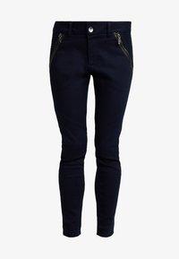 Mos Mosh - MILTON TUCK PANT - Kalhoty - dark blue - 4