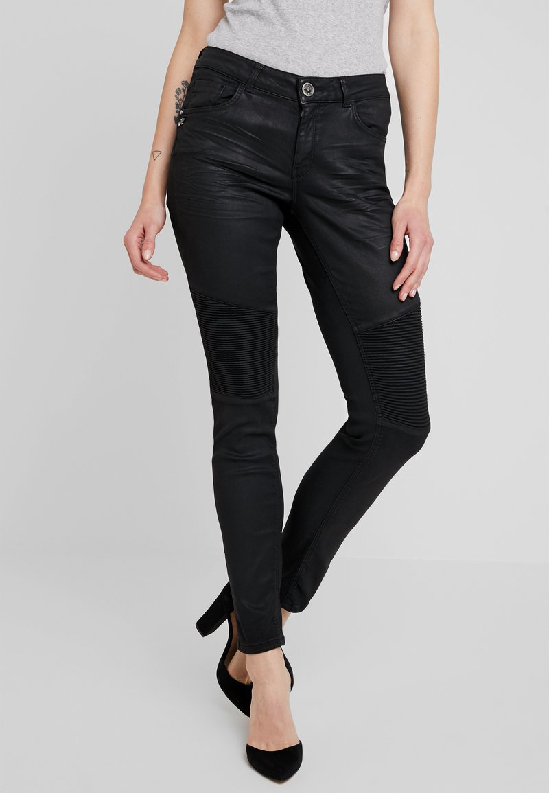 Mos Mosh - OZZY COATED PANT - Trousers - dark grey