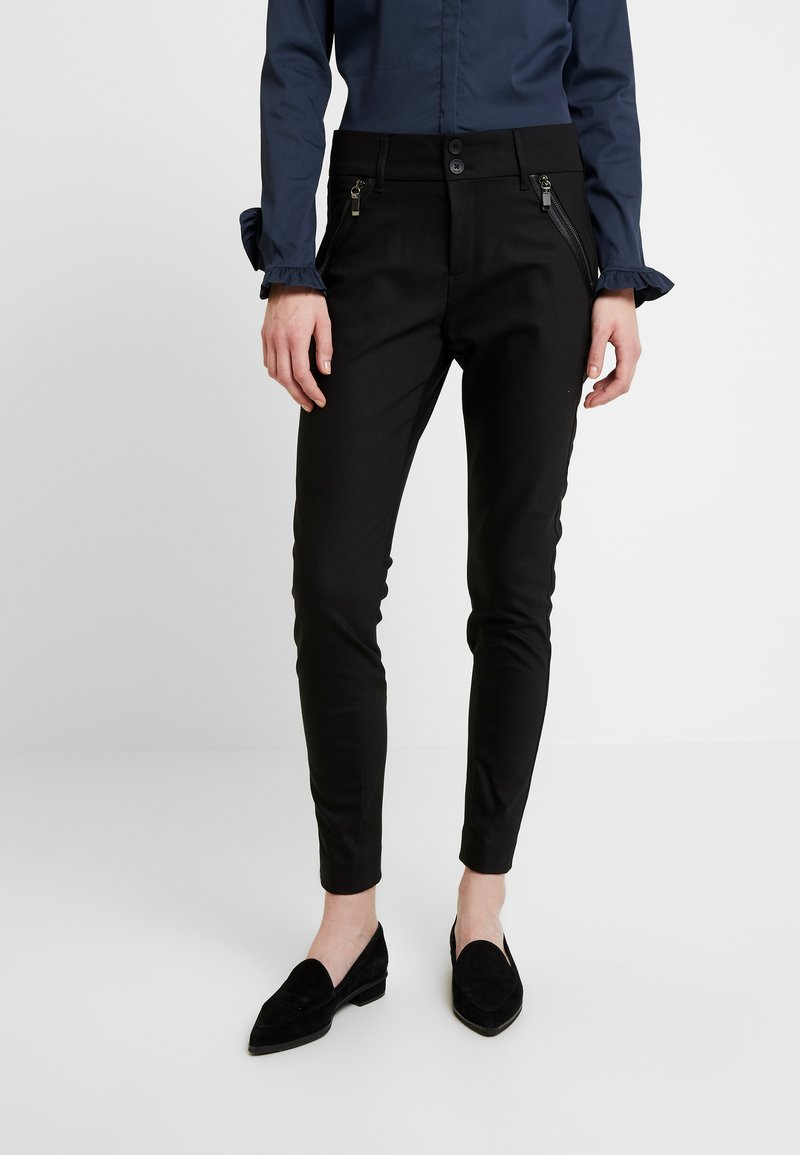 Mos Mosh - MILTON NIGHT PANT SUSTAINABLE - Trousers - black