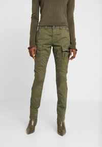 Mos Mosh - CHERYL CARGO REUNION PANT - Cargobukse - army - 0