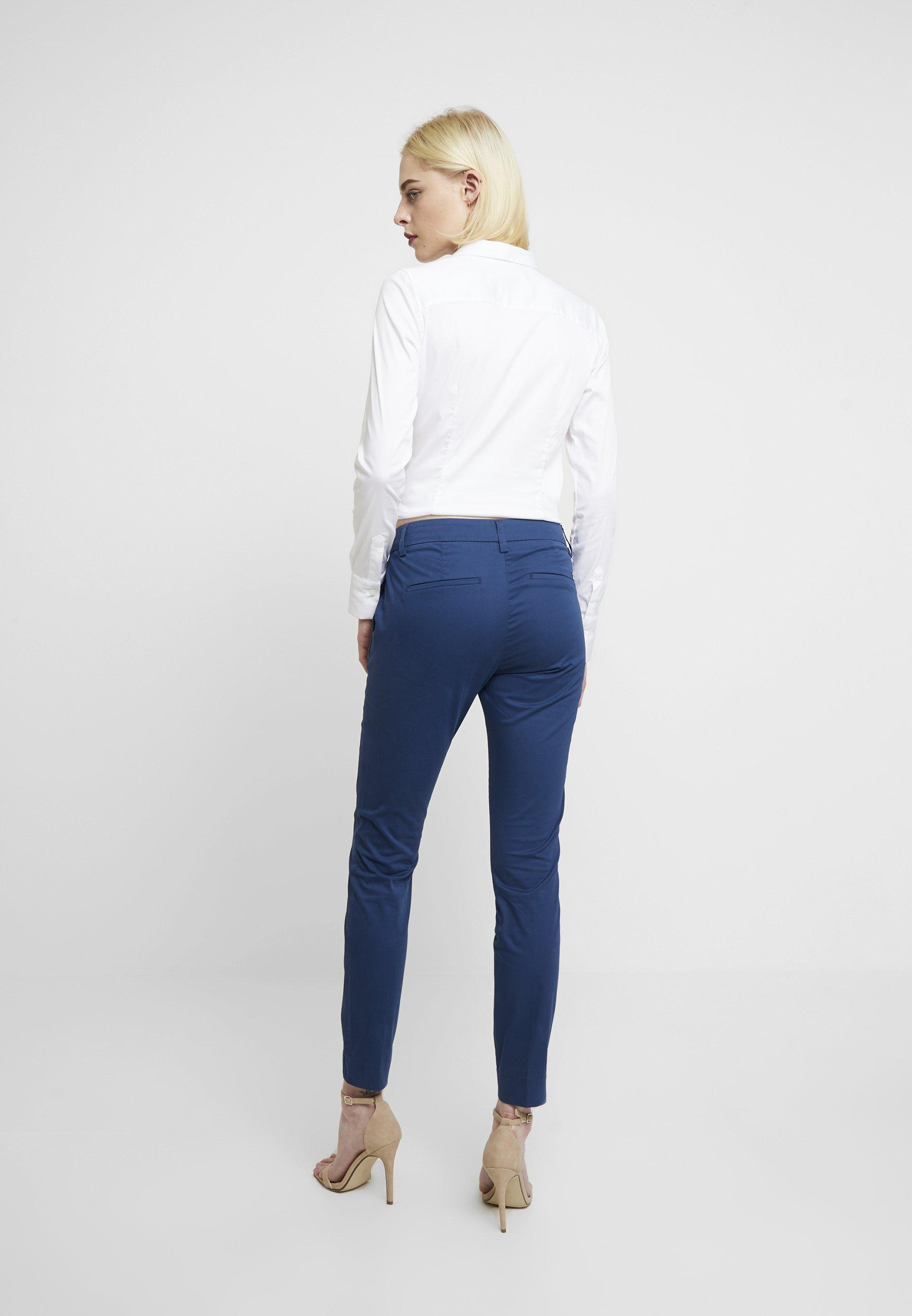Mos Mosh ABBEY COLE PANT - Spodnie materiałowe - dark blue