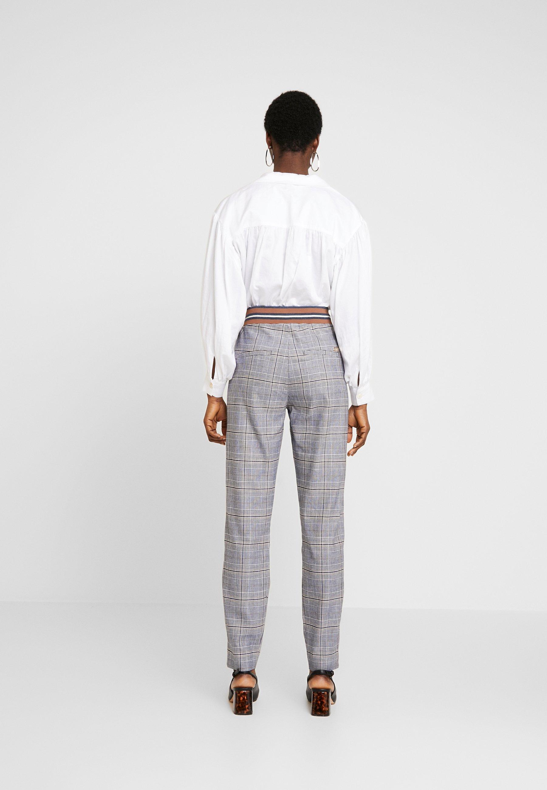 Mos Mosh LEVON CHESTER PANT - Spodnie materiałowe - blue