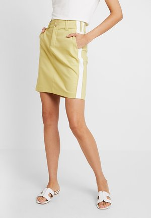 BLAKE SKY SKIRT - Denim skirt - shadow lime