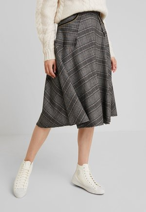 ALICE MILANO SKIRT - Jupe trapèze - black