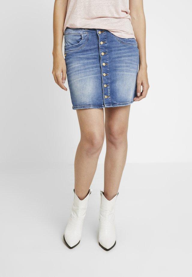 VICKY DECOR SKIRT - Pencil skirt - blue