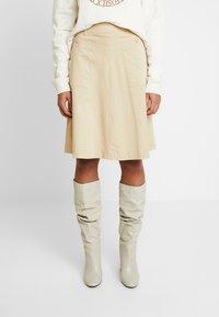 Mos Mosh - ALICE COLE SKIRT - Áčková sukně - safari - 0
