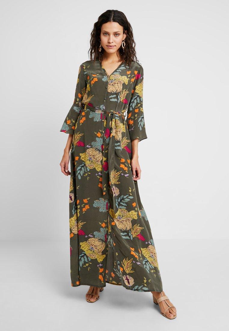 Mos Mosh - TULUM AVA DRESS - Maxi dress - grape/leaf