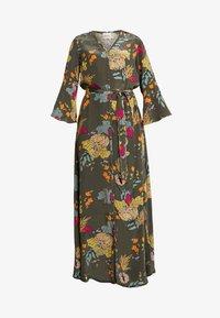 Mos Mosh - TULUM AVA DRESS - Maxi dress - grape/leaf - 5