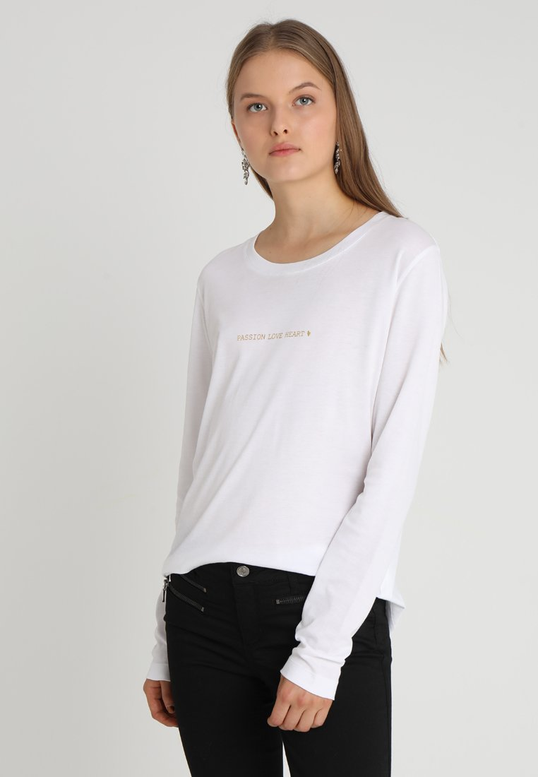 Mos Mosh - PASSION TEE  - Long sleeved top - white