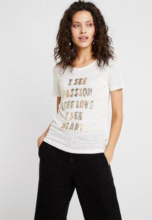 KACY GLAM TEE - T-shirts med print - gold