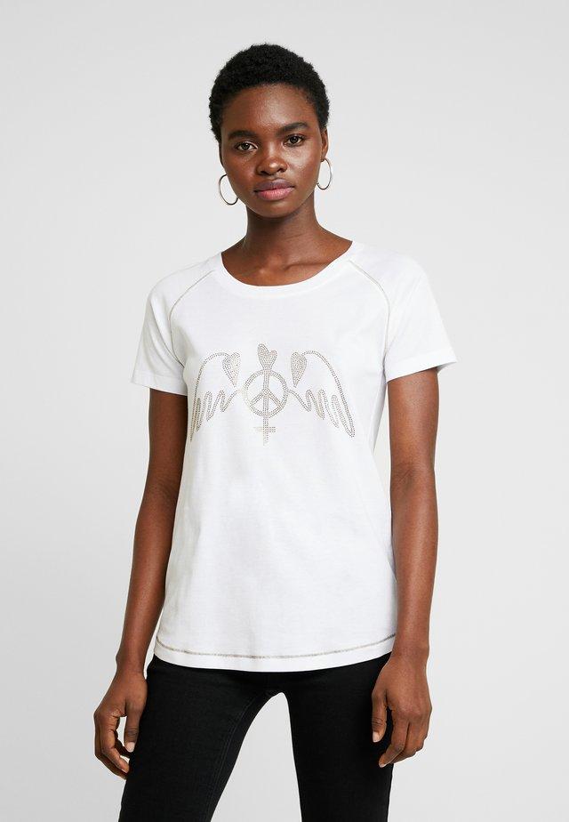 MAG TEE - T-shirt med print - white