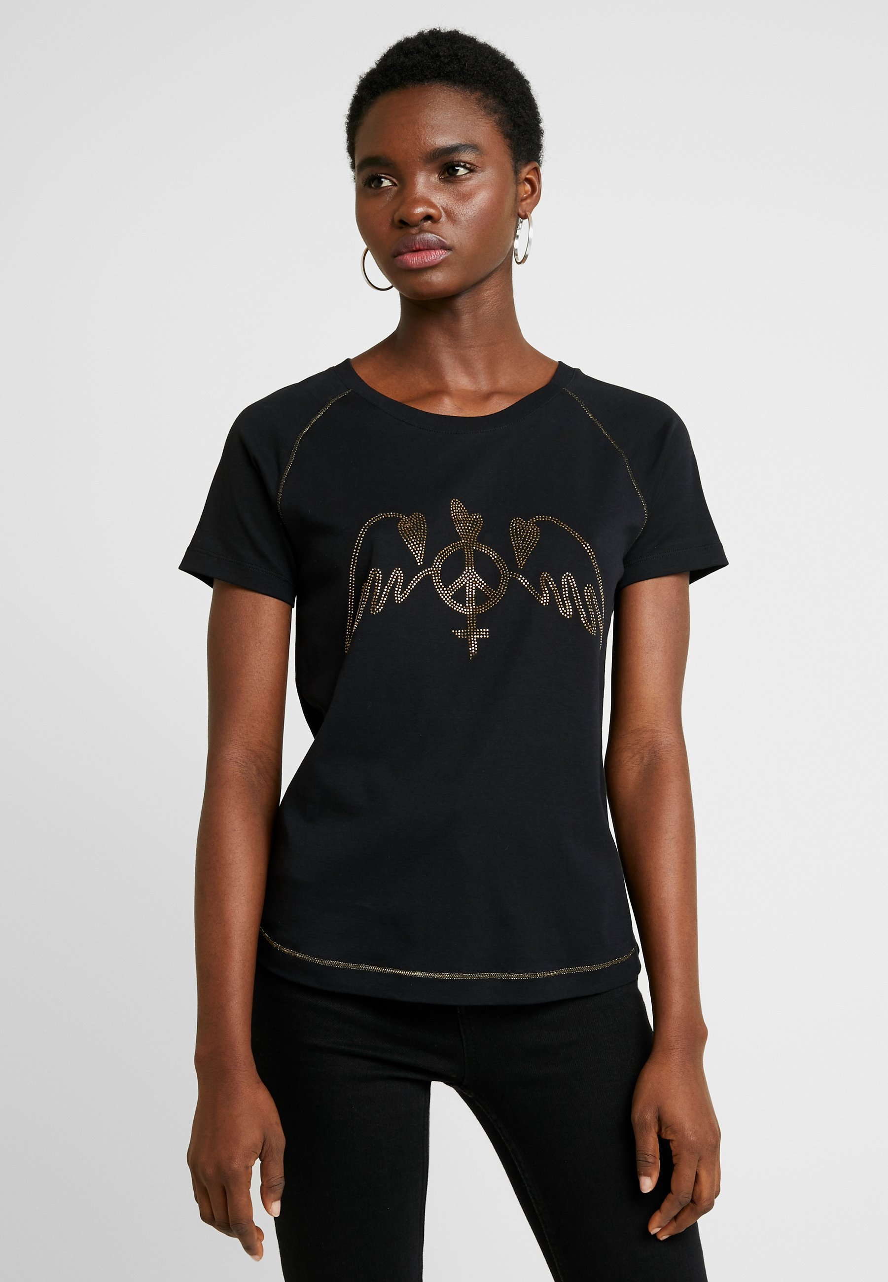 Mos Mosh MAG TEE - T-shirt z nadrukiem - black