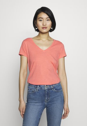 ARDEN V NECK TEE - T-shirt basic - sugar coral