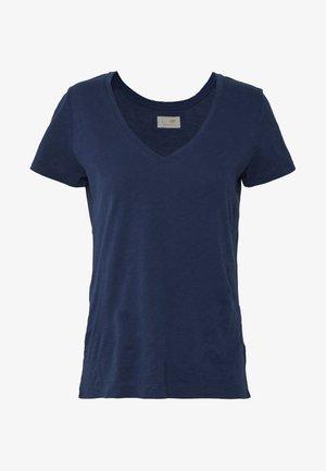ARDEN V NECK TEE - T-shirts - navy