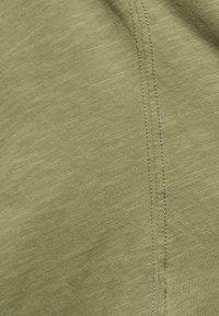 Mos Mosh - ARDEN V NECK TEE - Basic T-shirt - oil green - 5