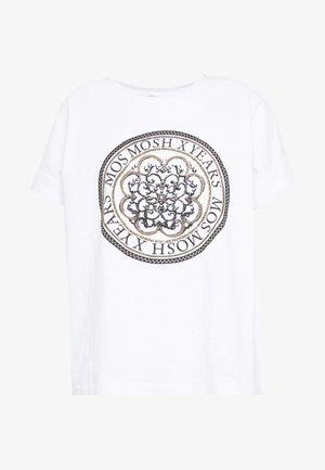 YARA ANNIVERSARY TEE - Print T-shirt - white/gold
