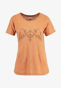 Mos Mosh - MAG TEE - Print T-shirt - bran - 4